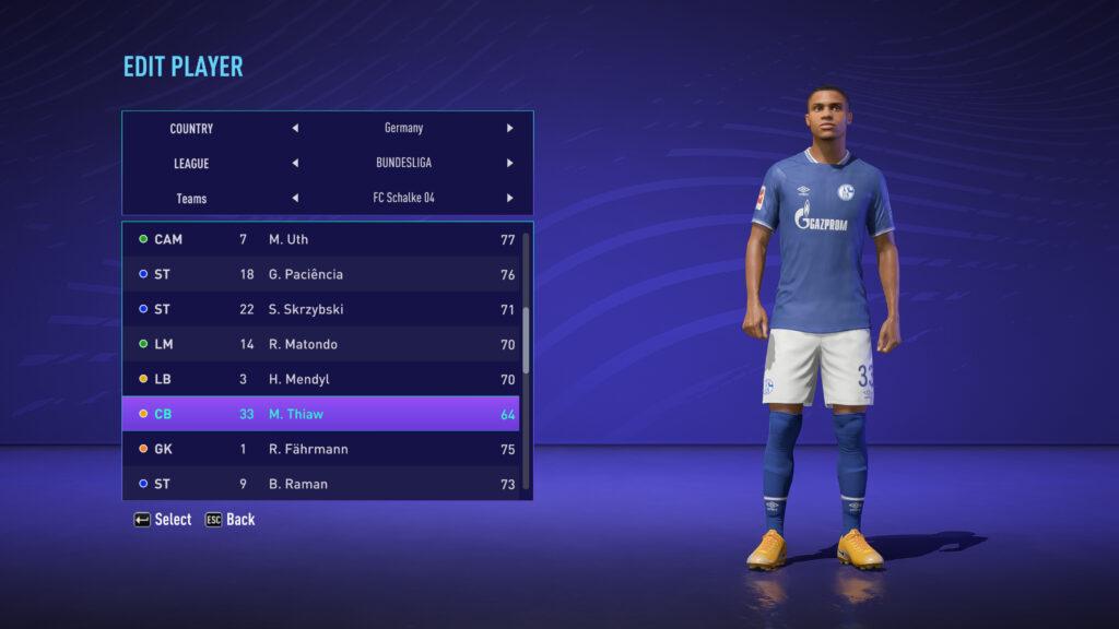 FIFA 21 / Malick Thiaw Face